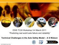 Technical challenges in axle safety model - Politecnico di Milano