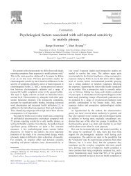 Psychological factors associated with self-reported sensitivity to ...