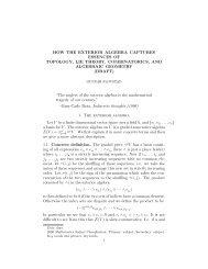 How the exterior algebra captures essences of topology, Lie theory ...
