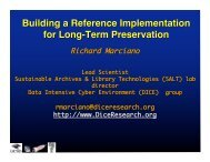 Building a Reference Implementation for Long-Term Preservation