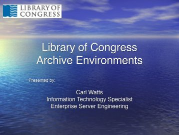 Library of Congress NAVCC Overview and Update - (lib.stanford ...