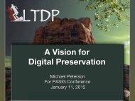 A Vision for Digital Preservation - (lib.stanford.edu) include