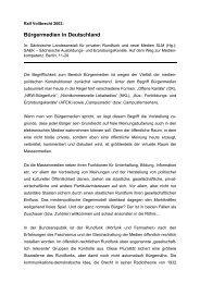 Bürgermedien in Deutschland - Medienpädagogik TU Dresden
