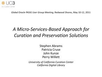 A Micro-Services-Based Approach for Curation and Preservation ...