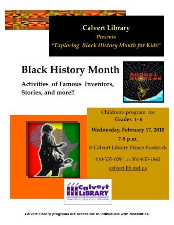 black history month research paper