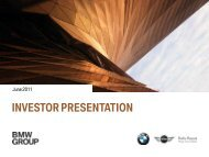 BMW Group Investor Presentation