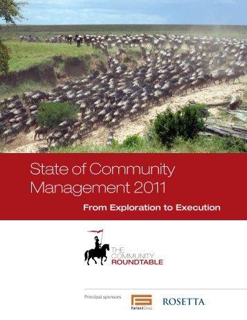 State of Community Management 2011 - Retelur