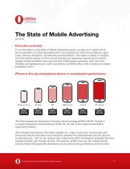 The State of Mobile Advertising - Opera