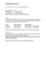 Spezifikationen eines FULL-SCREEN-WERBEMITTEL ...