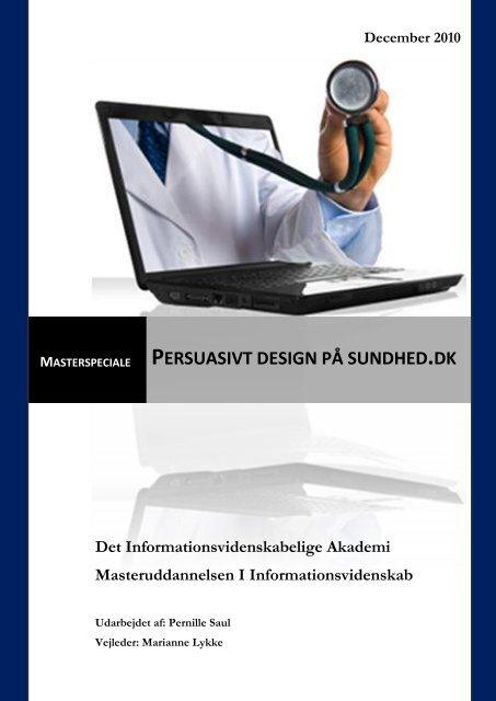 Persuasivt design på sundhed.dk - Forskning - IVA