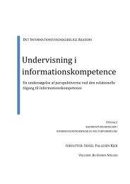 Undervisning i informationskompetence - Forskning - IVA