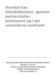 Folkebiblioteket og partnerskaber - Forskning - IVA