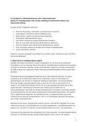 Fortsat udvikling af traditionelle ydelser som ... - Forskning