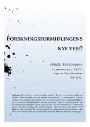 FORSKNINGSFORMIDLINGENS NYE VEJE? - Forskning - IVA
