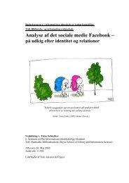 Bacheloropgave analyse af det sociale medie facebook