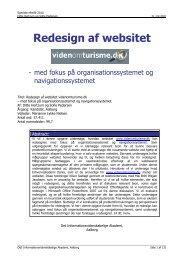Redesign af websitet videnomturisme.dk - Forskning - IVA