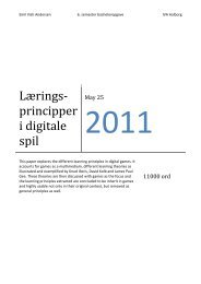 Lærings-principper i digitale spil - Forskning - IVA