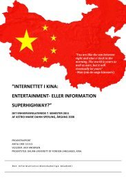 Internettet i Kina: Entertainment - eller information ... - IVA