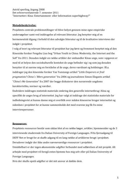 Internettet i Kina: Entertainment - eller information ... - IVA