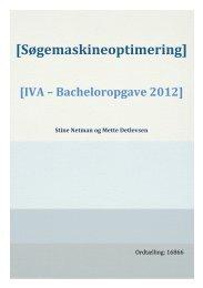 [Søgemaskineoptimering] - Forskning - IVA
