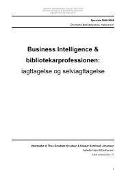 Business Intelligence & bibliotekarprofessionen ... - Forskning