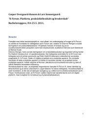 Casper Overgaard-Hansen & Lars Sonnergaard ... - Forskning - IVA