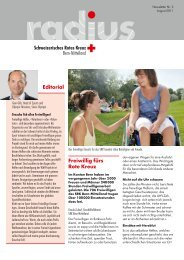 Freiwillig fürs Rote Kreuz Editorial - SRK Bern