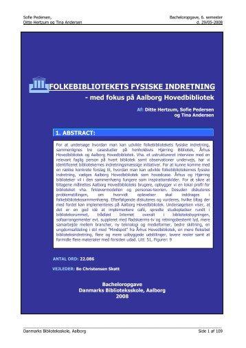 Bacheloropgave1 - Forskning