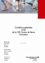 Conditions générales (CG) de la CRS Canton de Berne ... - SRK Bern