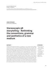Stereoscopic-3D storytelling - Ingentaconnect Home