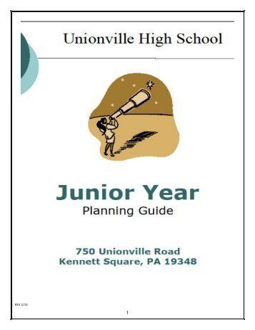 Junior Year Planning Guide - Unionville High School