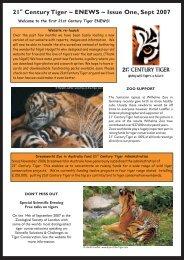 21 Century Tiger ~ ENEWS ~ Issue One, Sept 2007 - 21st Century ...