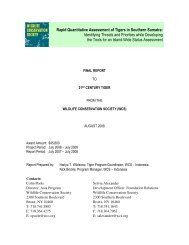 WCS Rapid Quantitive Assessment final report 08 - 21st Century Tiger