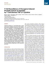 T Cell Surveillance of Oncogene-Induced Prostate Cancer Is ...