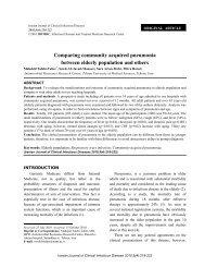 Comparing community acquired pneumonia between elderly ...