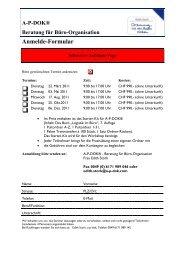 AP-DOK® Beratung für Büro-Organisation