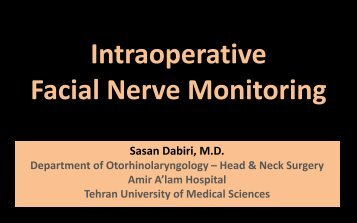 Intraoperative Facial Nerve Monitoring
