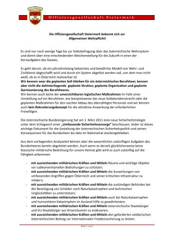 Offiziersgesellschaft Steiermark GenMjr Mag. Heinrich ... - OGST.at