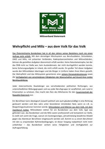 Milizverband Steiermark Mag. Harald Korschelt - OGST.at