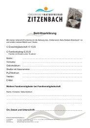 Beitrittserklärung - Ferndorf