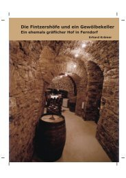 Die Fintzershöfe und ein Gewölbekeller - Ferndorf