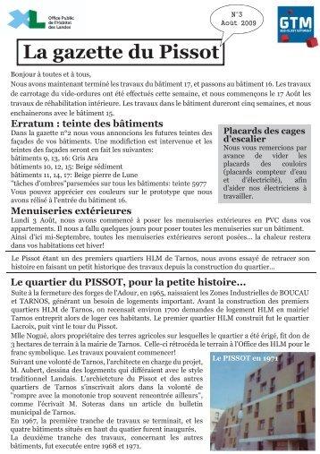 La gazette du Pissot - ISA BTP, école d'Ingénieurs du BTP