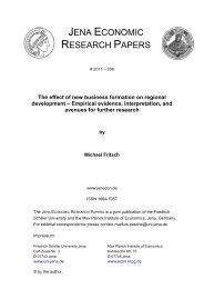 JENA ECONOMIC RESEARCH PAPERS - Public