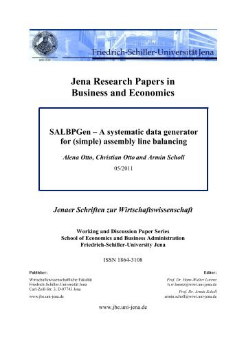 Jena research papers in business and economics