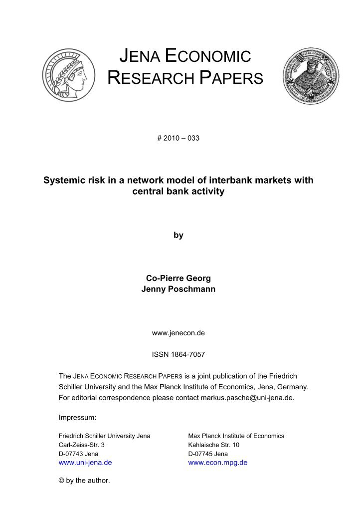 economic research working papers Research by cepr research fellows and affiliates appears initially in the cepr discussion paper series these discussion papers are circulated widely to other specialists in the research and policy community so that the results of the research receive prompt and thorough professional scrutiny.