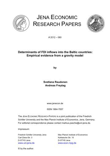 Determinants of FDI inflows into the Baltic countries - Public