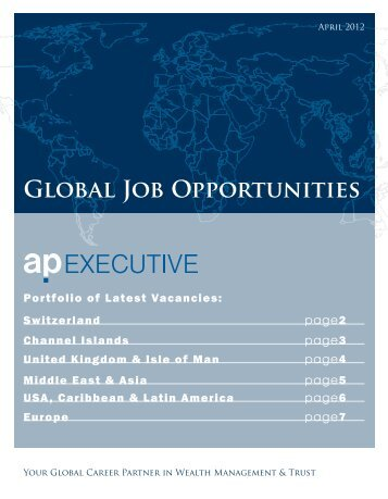 Global Job Opportunities - AP Executive