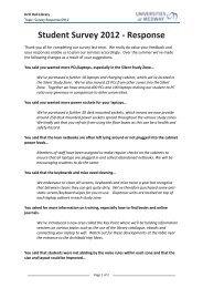 Student Survey 2012 - Response - Drill Hall Library