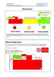 Silent Study Zone - Drill Hall Library