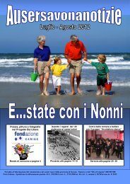 Mese di Luglio-Agosto 2012 - Auser Liguria